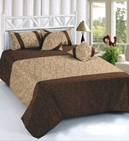 KS21 Homes King Size Heavy Velvet Double Bedsheet with 2 Pillow Covers and 2 Cushions Covers Size 90 Inch x 100 Inch