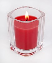 Red Color Shot Glass Scented Candle
