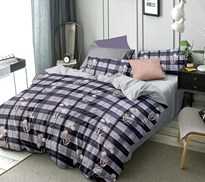 Merino glace cotton double bed bedsheet multicolour m4gPack of one with two pillow coverm5g
