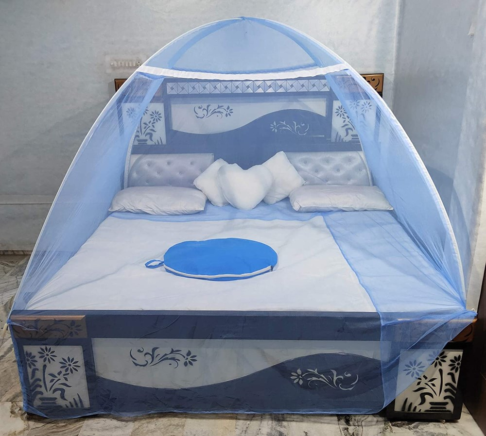 NTC-Blue-Color--Double-Bed-Mosquito-Net