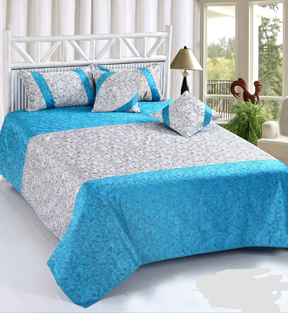 KS21-Homes-King-Size-Heavy-Velvet-Double-Bedsheet-with-2-Pillow-Covers-and-2-Cushions-Covers-Size-90-Inch-x-100-Inch