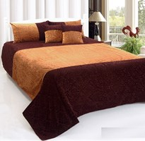 KS21 Homes King Size Heavy Velvet Double Bedsheet with 2 Pillow Covers and 2 Cushions Covers Size 90 Inch x 100 InchKS21 Homes King Size Heavy Velvet Double Bedsheet with 2 Pillow Covers and 2 Cushions Covers Size 90 Inch x 100 Inch