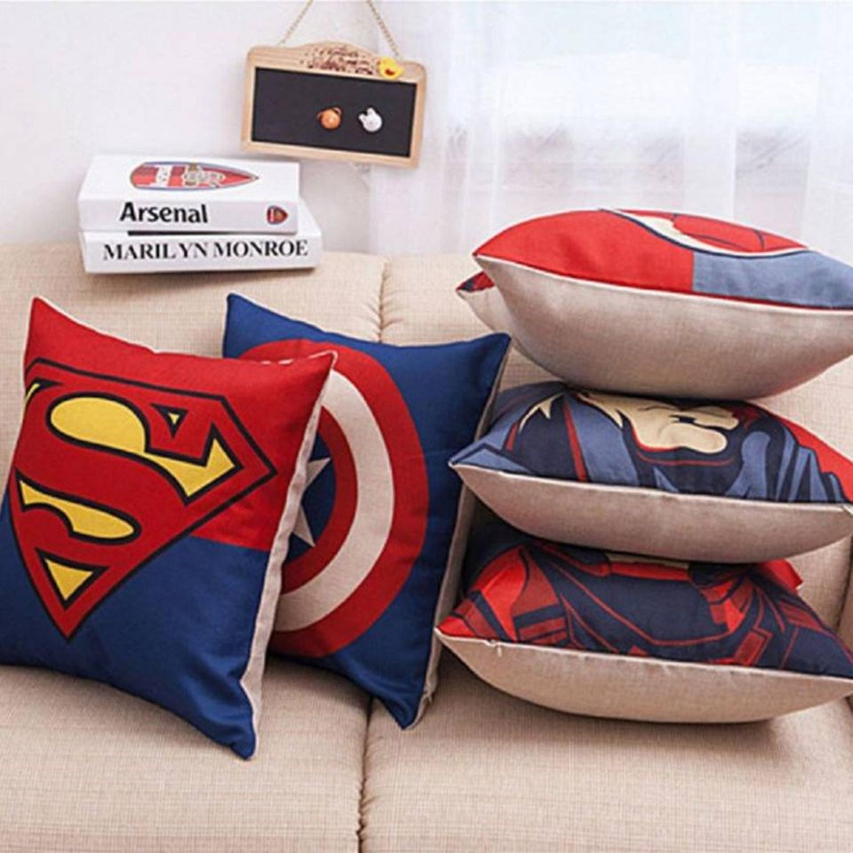 KS21-Homes-Jute-Cushion-Covers-Set-of-5-with-Digital-Print-in-Multi-Color,-Size-16-Inch-x-16-Inch-(40-cm-x-40-cm)