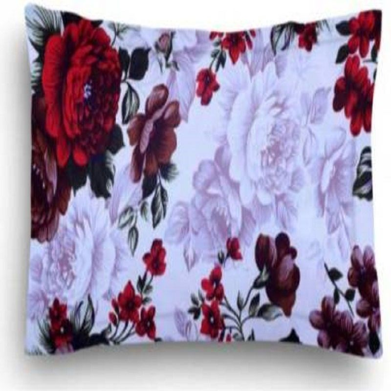 KS21-Homes-3d-Single--with-one-pillow-cover,-White-with-red-rose