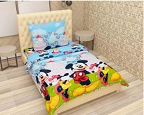 KS21 Homes 3d Single  with one pillow cover, Mickey-mouse