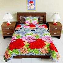 KS21 Homes 3d Single  with one pillow cover, Floral