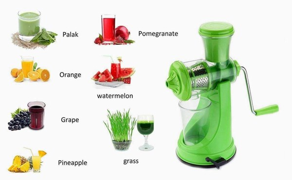Kitchnaura-Fruits-Juicer-Machine-with-Steel-Handle-and-Waste-Collector-for-Fruits-and-Vegetables---Premium-Quality---(Green)