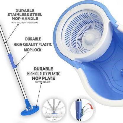 The-wants-Classic-Magic-Bucket-Mop--360-Degree-Self-Spin-Cleaning-Wringing-BP7-Mop-Set,-Mop,-Cleaning-Wipe,-Bucket,-Dustbin,-Mop-Mop-Set