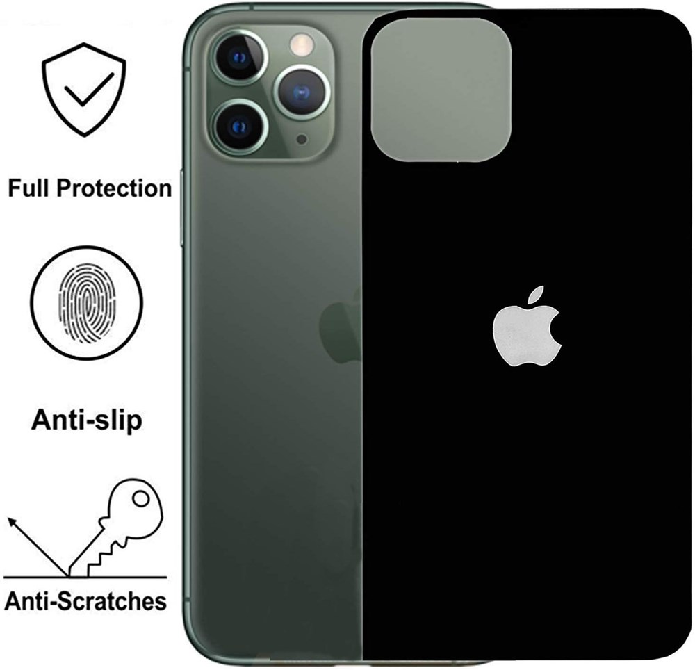 Infinite-Galleria-®-(Combo-Offer)-Metal-Aluminium-Camera-Lens-Guard-Protector-Cover-for-iPhone-X/XS-Converter-Upgrade-to-iPhone-11-Pro-+-5D-Matte-Finish-Back-Tempered-Glass-for-iPhone-X/XS---Black