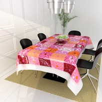 Dining Table Cover-Size - 40*60 Inches ,Multicolor Flourish pattern PVC material