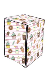 A.N. Decor Front Load Washing Machine Cover- Ice Cream Print