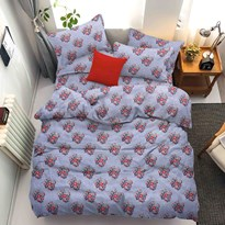 A.N. Decor Polycotton Double-Bed Printed Bedsheet Blue
