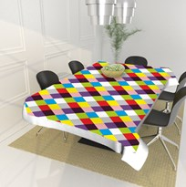 Dining Table Cover-Size - 40*60 Inches ,Multicolor PVC material