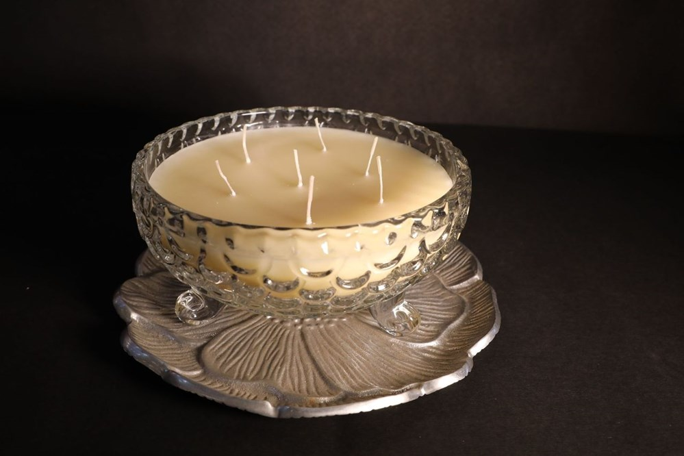 Ivory-Color-Multiple-Wick-Candle