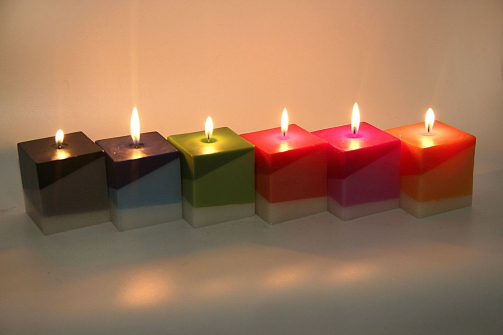 Red-Colour-Triple-Layered-Square-Pillar-Scented-Candle