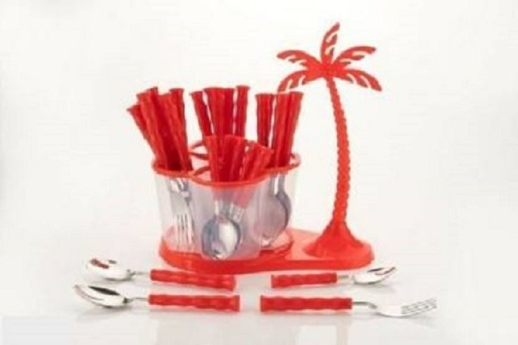Home-Turf--Antic-Cutlery-Set-of-24-Pcs---Red