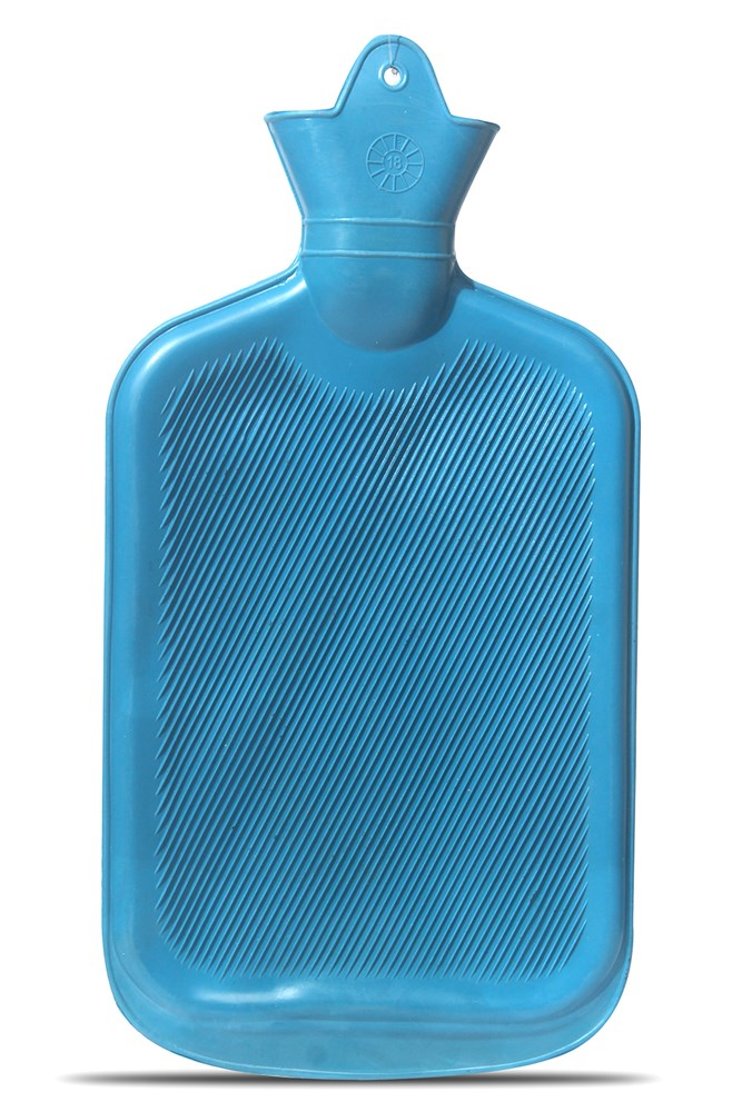 SMARTCARE-Classic-Hot-Water-Bottle-Made-of-Premium-Rubber,-Ideal-for-Quick-Pain-Relief-and-Comfort---Assorted-Color-(One-Sided-Ribbed)