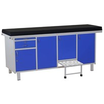 SMARTCARE Examination Table With Cabinet for Hospital and Clinic (Size: 74L x 24W x 32)