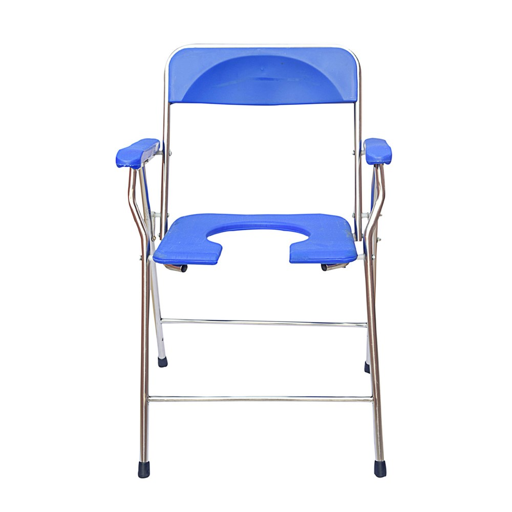 SMARTCARE-Smart-Care-Premium-Commode-Chair-Indian-Style-with-SS-Pipe---Blue-(Assorted-Color)