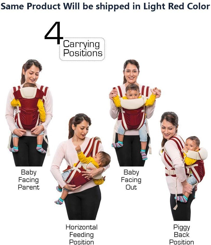 GTC-4-in-1-ADJUSTABLE-BABY-CARRIER-BAG|-BREATHABLE-BABY-CARRIER-BAG|-RED