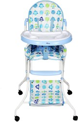 Foldable Baby Dining Chair With Wheels