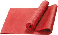 GTC PVC RED YOGA MAT FOR EXERCISE AND MEDITATION