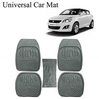 UNIVERSAL CAR FLOOR MATS m24g SET OF 5 m24g GREY
