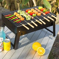 BBQ PORTABLE GRILL | CHARCOAL BARBEQUE STOVE