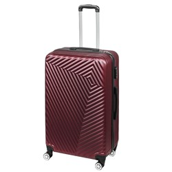 Gtc Abs Travel Trolley Bag| Wine|28 Inches