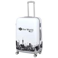 GTC POLY CARBONATE TROLLEY BAGm24g WHITE AND BLACK
