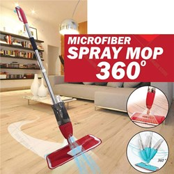 360 Degree Water Spray Mop With Brush Cleaner|700Ml