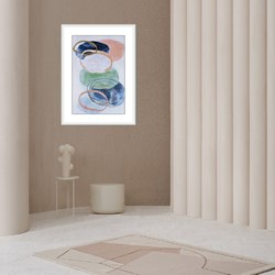 Modern  Wall Art Painting (002A)  On Canvas With Frame Large Size ...