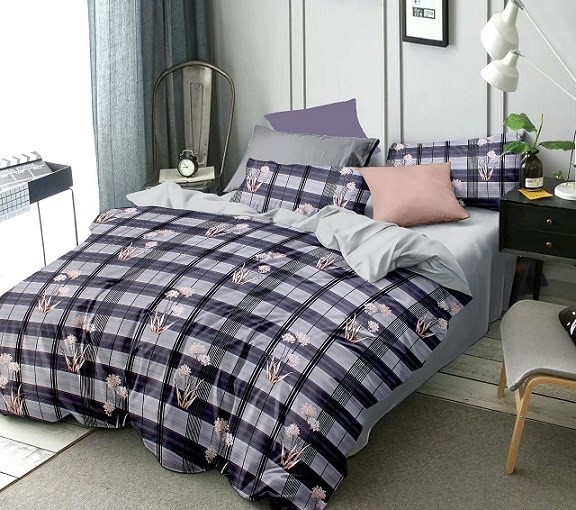 Merino-glace-cotton-double-bed-bedsheet-multicolour-(Pack-of-one-with-two-pillow-cover)