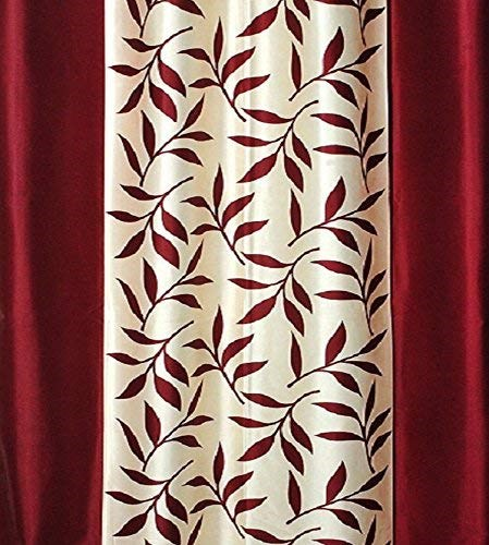 Affordable-Hut-Single-Door-Semi-Transparent-Eyelet-Polyester-Curtains-Maroon-(AH-C-7)